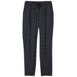 Joie Silk blend Jogger with gold square embroidery